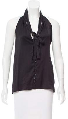 A.L.C. Snake Skin-Accented Sleeveless Top