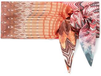 Missoni Printed Silk-twill Scarf - Pink