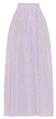 Rochas Striped cotton maxi skirt