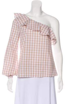 L'Academie Checkered Casual Blouse