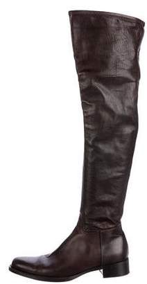 Alaia Leather Over-The-Knee Boots