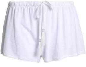 Skin Slub Cotton-Jersey Pajama Shorts