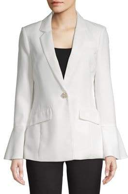 Calvin Klein Bell Sleeve Pearl-Button Jacket