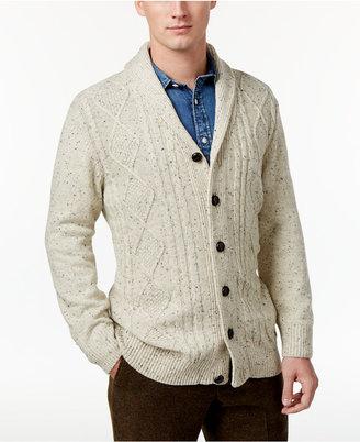 Tricots St. Raphael Men's Cable-Knit Shawl-Collar Cardigan $85 thestylecure.com