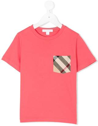 Burberry check pocket T-shirt