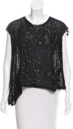 AllSaints Embellished Short Sleeve Top