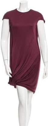Alexander McQueen Cap Sleeve Draped Dress w/ Tags