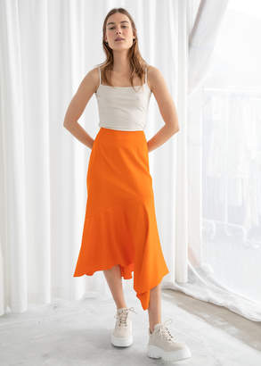 And other stories Satin Handkerchief Midi Skirt