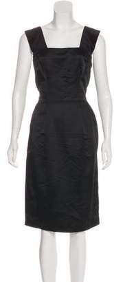 Dolce & Gabbana Square Neck Midi Dress