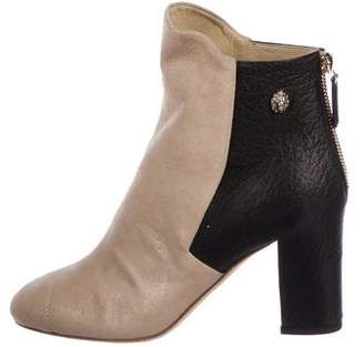 Chanel Suede Round-Toe Ankle Boots