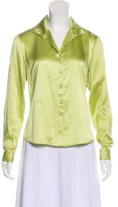 Lafayette 148 Long Sleeve Silk Blouse