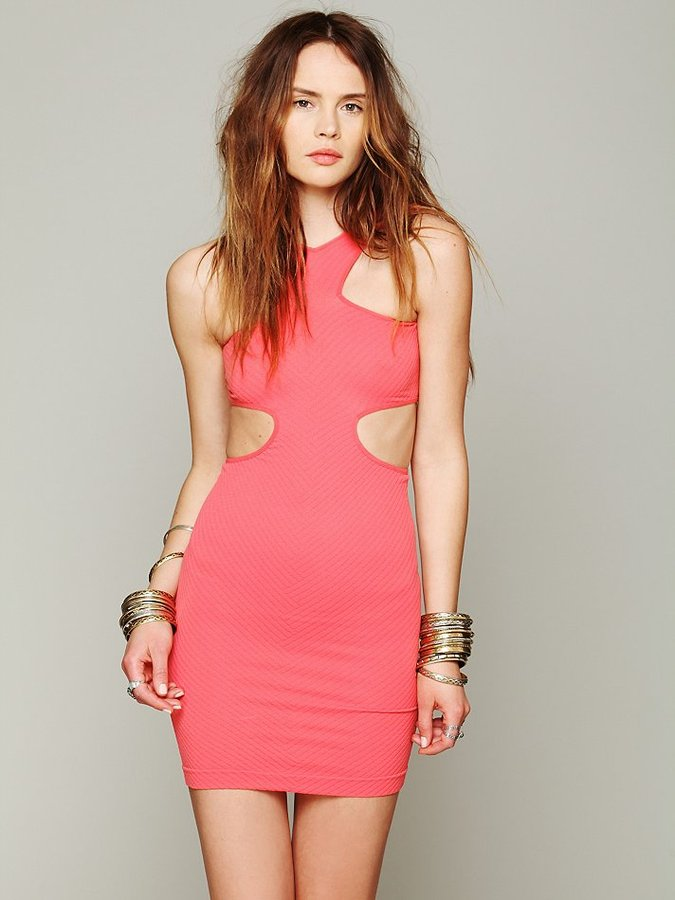 Free People Cut Out Seamless Bodycon