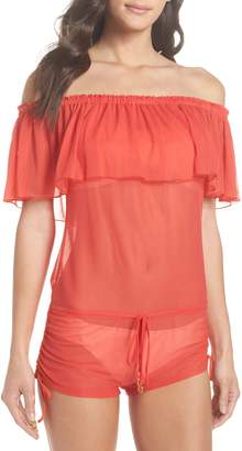 Luli Fama Off the Shoulder Cover-Up Romper