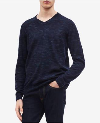 Calvin Klein Men's Space-Dyed V-Neck Sweater