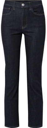 3x1 Stevie High-rise Straight-leg Jeans - Dark denim