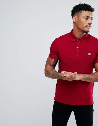 Lacoste Slim Fit Logo Polo Shirt In Red