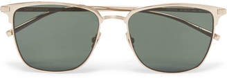 Saint Laurent D-Frame Gold-Tone Titanium Sunglasses