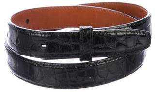 Kieselstein-Cord Alligator Belt Strap