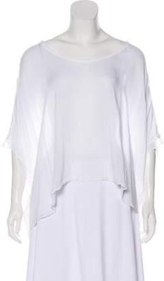 Helmut Lang Over-Sized Scoop Neck T-Shirt