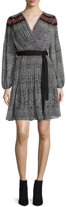 Diane von Furstenberg Bianka Long-Sleeve Wrap Dress, Cabriole Dot $598 thestylecure.com