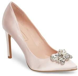 AVEC LES FILLES Chiara Embellished Pointy Toe Pump