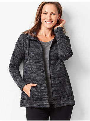 Talbots Spaced-Dyed Quilted Hooded Jacket