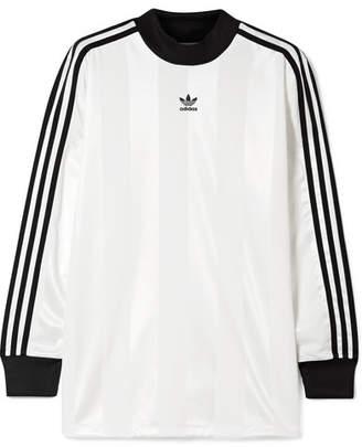 adidas Striped Satin-jersey Top - White