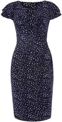 Lauren Ralph Lauren Printed frill sleeve detail jersey dress
