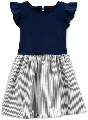 Carter's Carter Toddler Girls Cotton Striped Bow-Back Dress