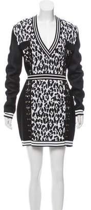 Balmain Animal Jacquard Dress