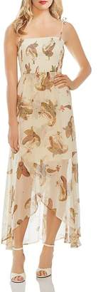 Vince Camuto Smocked Paisley-Print Dress