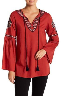 Always & Forever Peasant Embroidered Tunic