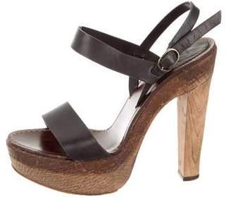 Christian Louboutin Platform Ankle Strap Sandals