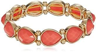 Nine West Women's Gold-Tone and Stretch Bracelet