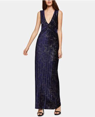 BCBGeneration Velvet Glitter Maxi Dress