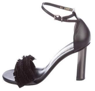 Robert Clergerie Fringe Ankle-Strap Sandals