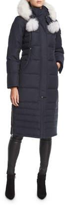 Moose Knuckles Saskatchewan Zip-Front Quilted Puffer Coat w/ Pompoms