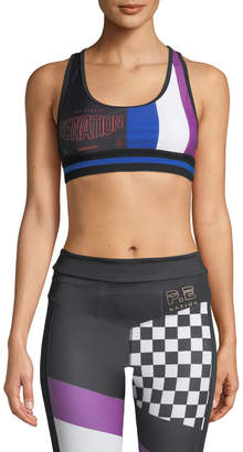 P.E Nation The Champ Racerback Performance Crop Top
