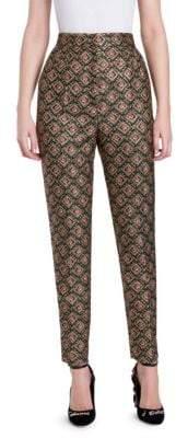 Dolce & Gabbana Jacquard Slim-Fit Ankle Pants
