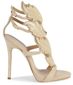 afb2169f16878 Giuseppe Zanotti Coline Wings Suede Sandals