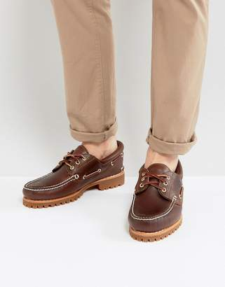 Timberland (ティンバーランド) - Timberland Classic Lug Boat Shoes in Brown