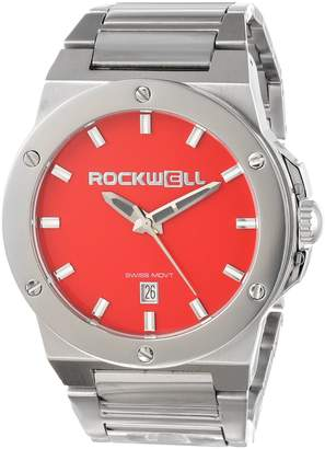 Rockwell Men's CM113 Men Commander Stainless Steel Silver and Red Watch