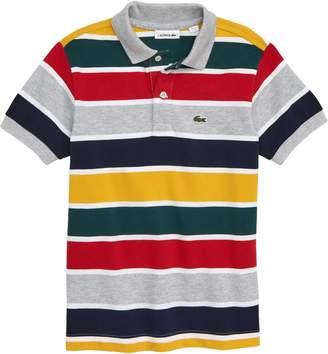Lacoste Multicolor Stripe Pique Polo