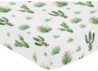 JoJo Designs Sweet Cactus Floral Fitted Crib Sheet