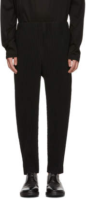 Issey Miyake Homme Plisse Black MC July Cropped Trousers