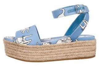 Miu Miu Cat Printed Espadrille Sandals