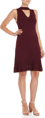 MICHAEL Michael Kors Gigi Neck Flounce Bodycon Dress