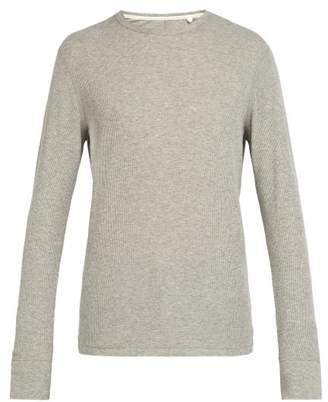Rag & Bone Crew Neck Cotton Sweatshirt - Mens - Grey