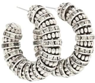Saint Laurent Crystal hoop earrings