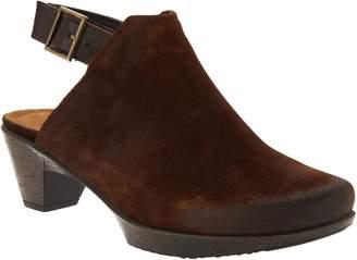Naot Footwear Suede Block Heel Mules - Upgrade
